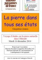 Voyage d'études sur la pierre naturelle - Hérault, 16 décembre 2014